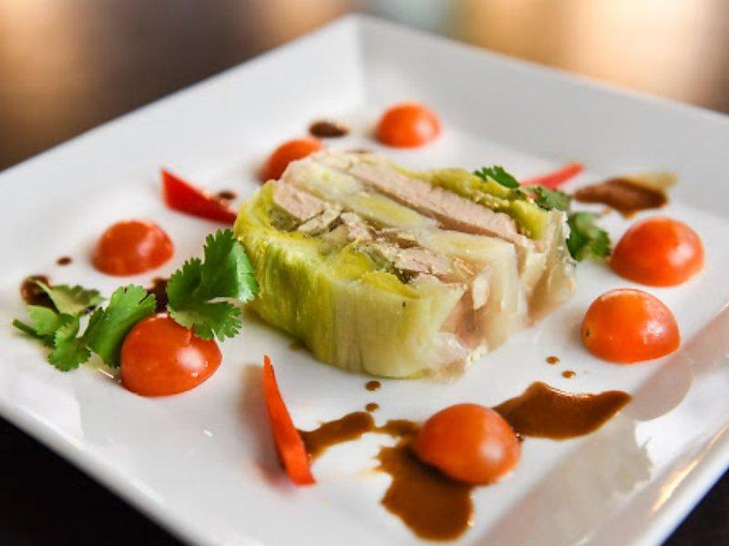 Terrine de poireaux et Foie gras
